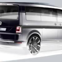 2016 Volkswagen Transporter T6 first sketch