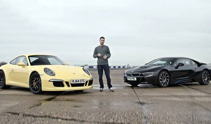 BMW i8 faces the classic sportscar: Porsche 911 Carrera GTS