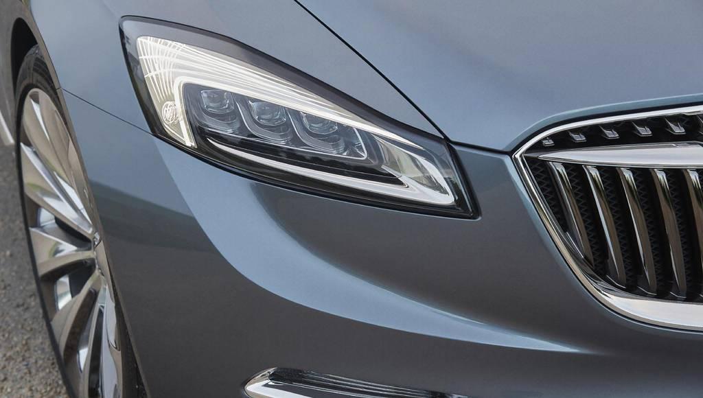 Buick Avenir LED headlights detailed