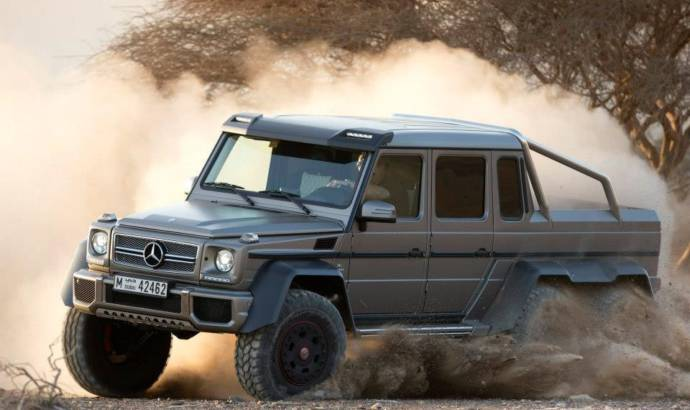Mercedes G63 AMG 6x6 takes an off-road challenge