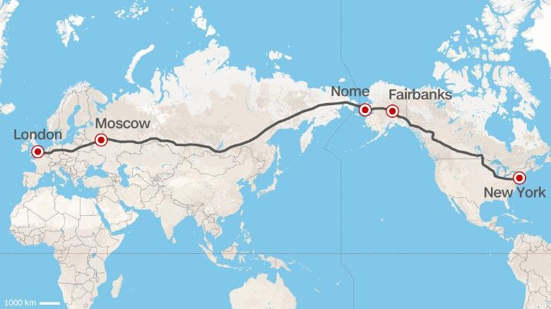 Superhighway - A 12.400 miles long road that will connect London and New York