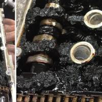 This Audi TT engine haven't seen new oil for over 83.000 miles