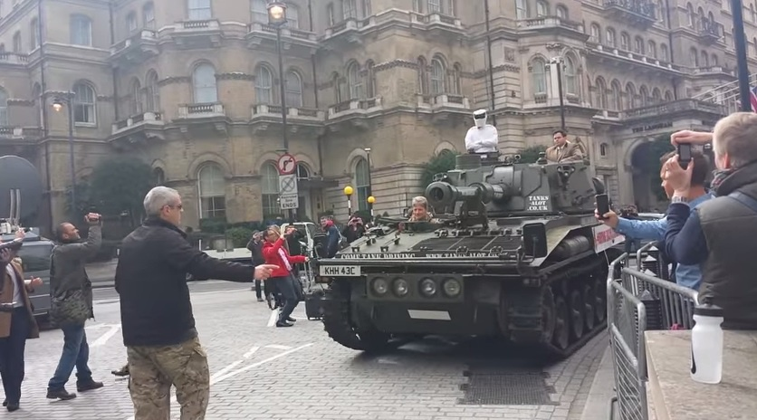 Video: Bring Back Clarkson 1M petitions have arrived at BBC with a tank
