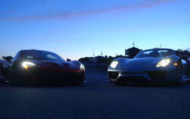 McLaren P1 vs Porsche 918 Spyder comparison test on road and on track
