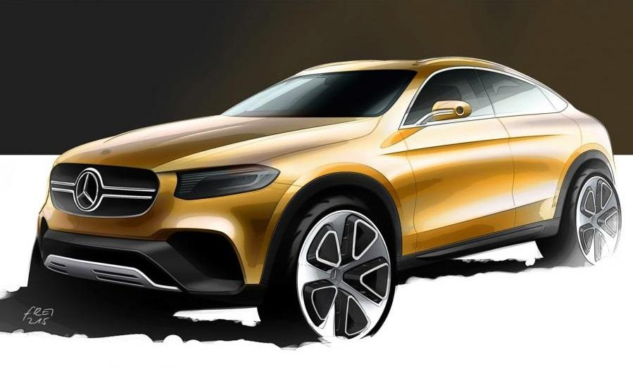 Mercedes-Benz GLC Coupe - First official sketch
