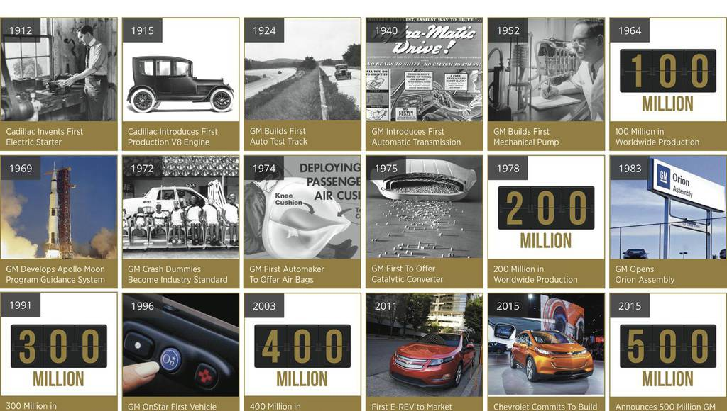 GM celebrates 500 million cars produced