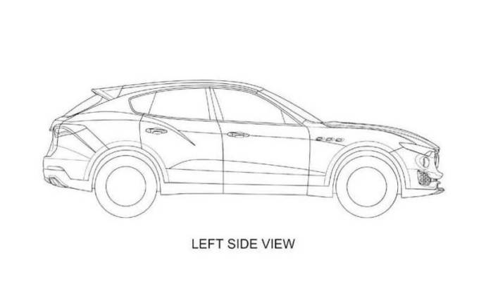 Maserati Levante - First official sketches