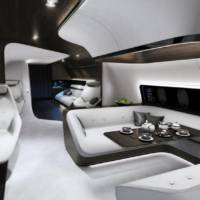 Mercedes-Benz Style and Lufthansa teamed up to deliver an ultra-luxury aircraft interior