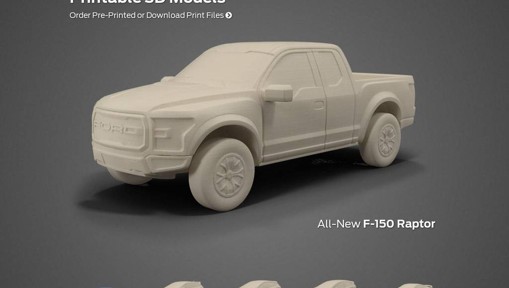 Ford offers 3D printing designs of its models
