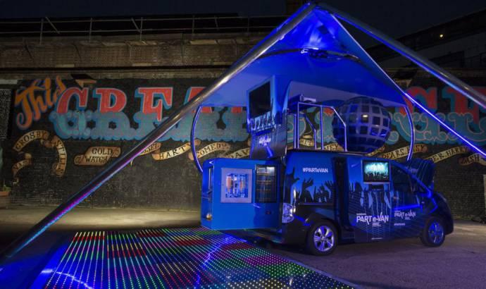 Nissan Part e-Van is a mobile disco
