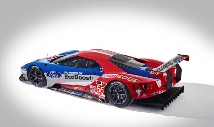 This is the 2016 Ford GT racecar