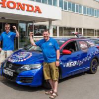 Honda Civic Tourer diesel achieves world record for lowest fuel consumption