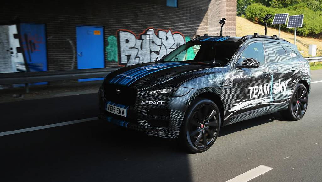Jaguar F-Pace made its debut in Tour de France