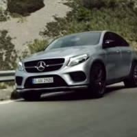 Lewis Hamilton drives the new Mercedes GLE Coupe
