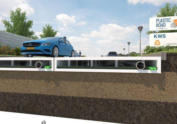 The roads could be built from recycled plastic
