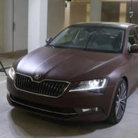 2015 Skoda Superb receives a full leather exterior