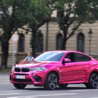 BMW X6 M wrapped in pink