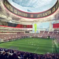 Mercedes-Benz Stadium dedicated to Atlanta Falcons