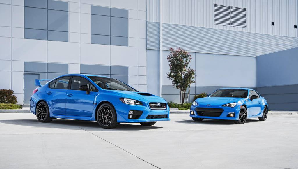 Subaru Series.HyperBlue BRZ and WRX STI available in US