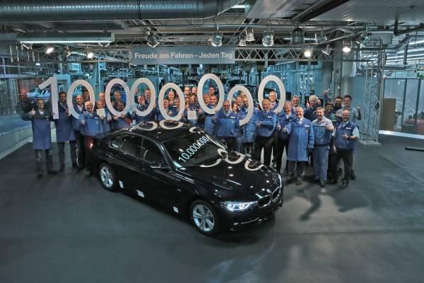 BMW produced the ten millionth 3 Series sedan