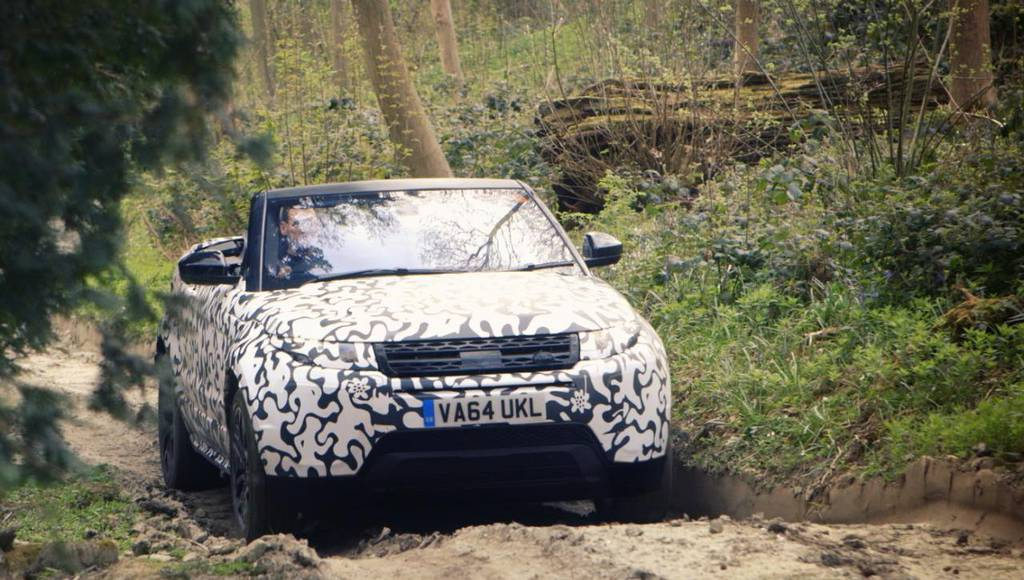 Range Rover Evoque Convertible teased again