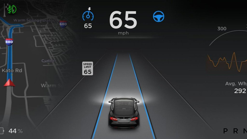 Tesla Model S receive Autopilot autonomous driving mode