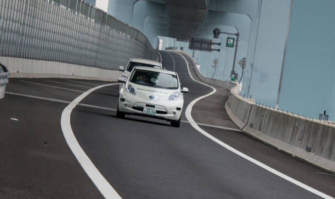 This is the 2015 Nissan Leaf Piloted Drive 1.0 concept