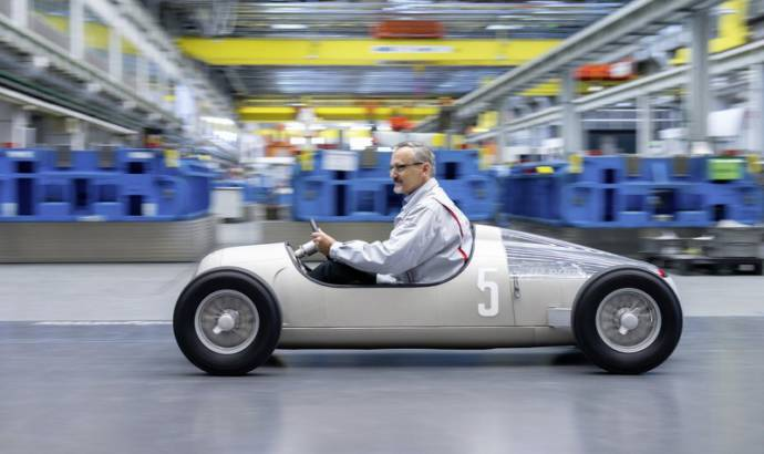 Audi used a 3D printer to create a 1936 Auto Union Typ C on 1:2 scale