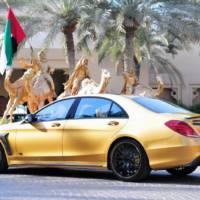 Golden Mercedes-Benz S65 AMG by Brabus