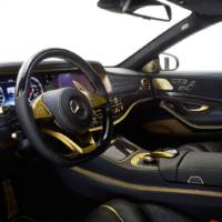 Golden Mercedes-Benz S65 AMG by Brabus