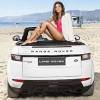 Naomie Harris, the Bond girl, poses next to Range Rover Evoque Cabrio