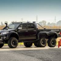 Toyota Hilux 6x6 interior modified by Overdrive