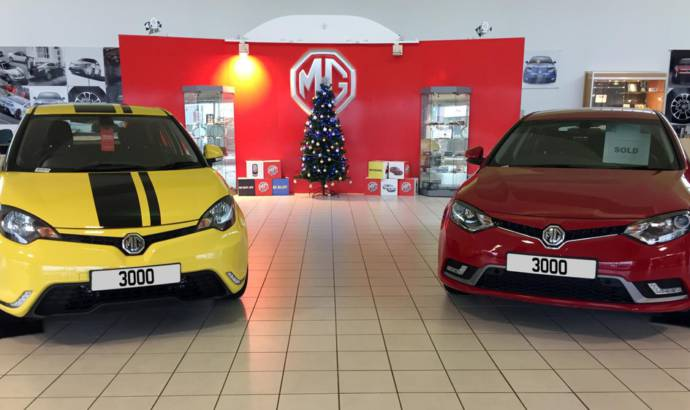 2015 MG registrations reach 3000 units in UK
