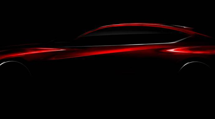 2016 Acura Precision Concept teased ahead of NAIAS