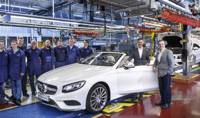 Mercedes-Benz kicks off S-Class Cabriolet production