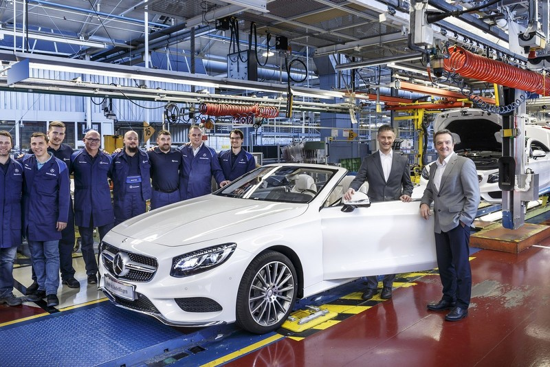 Mercedes-Benz kicks off S-Class Cabriolet production