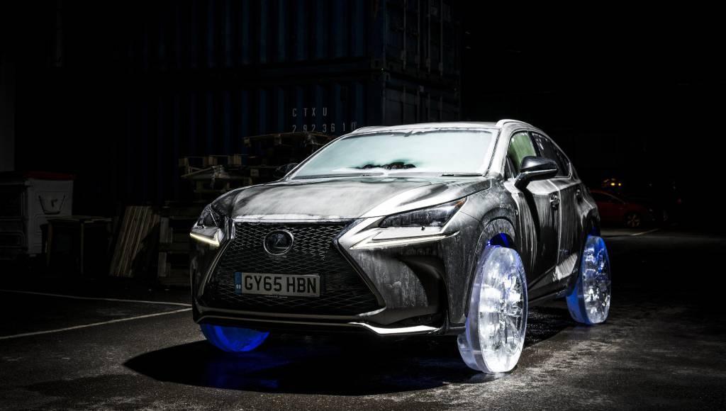 VIDEO: Lexus NX on icy wheels
