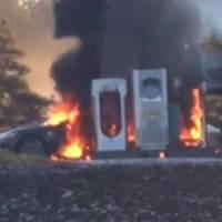 Tesla Model S burned in Norway (Video)