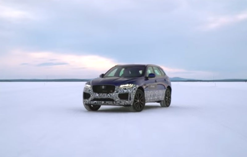 VIDEO: Jaguar F-Pace driven in the snow