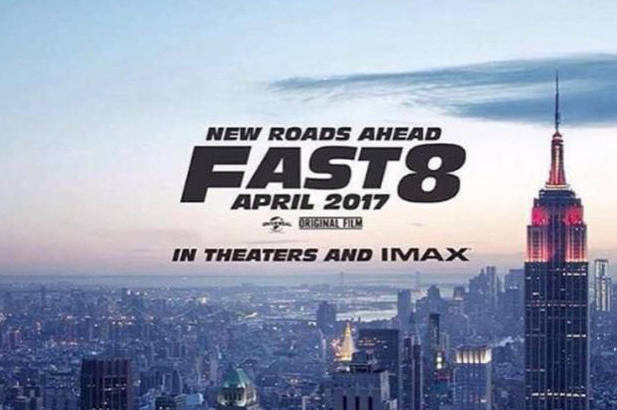 Vin Diesel and the first Fast and Furious 8 poster