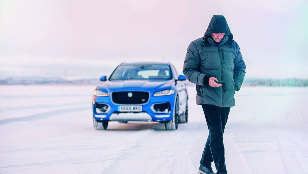Jose Mourinho and the new Jaguar F-Pace