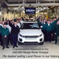 Range Rover Evoque reaches 500.000 units produced