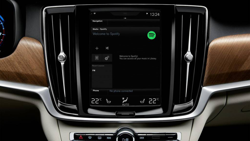 Volvo to offer Spotify on XC90, S90 and V90
