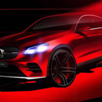 2016 Mercedes-Benz GLC Coupe - Another teaser picture