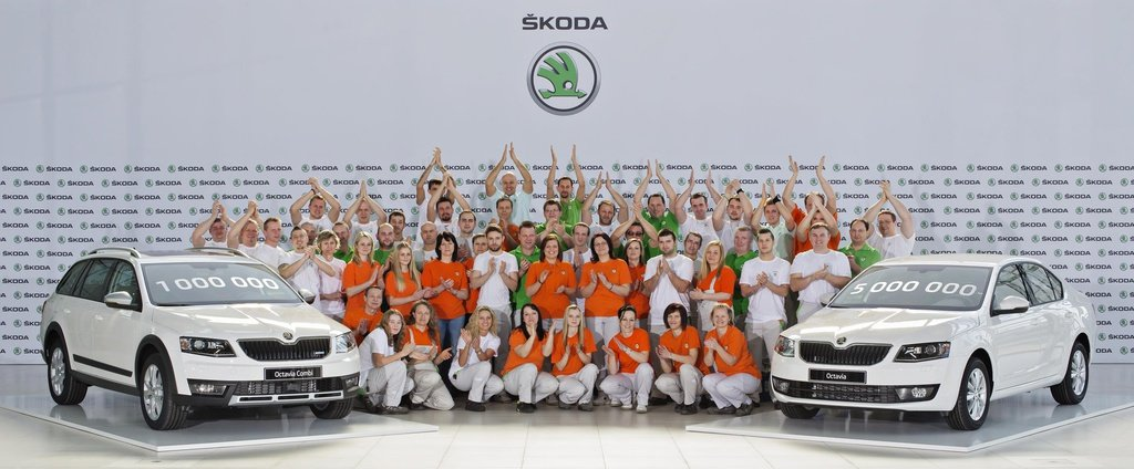 Current Skoda Octavia reaches one million units produced