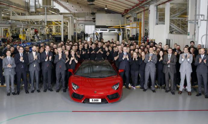 Lamborghini Aventador reached 5.000 units