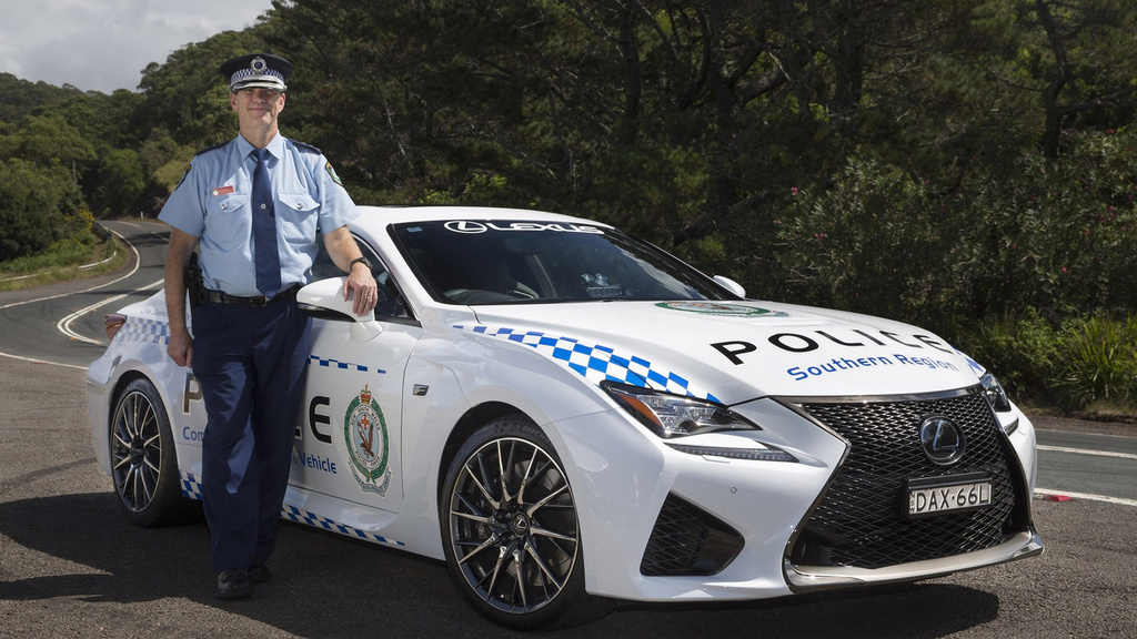 Lexus RC F disguised as an Aussie police officer