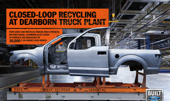 Ford is recycling enough aluminium to build 30.000 units of the F-150