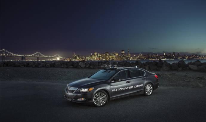 Acura RLX Sport Hybrid reached second generation as autonomos vehicle