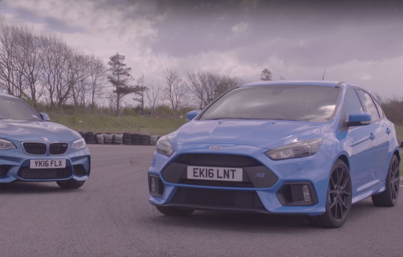 Ford Focus RS battles the new BMW M2 on track